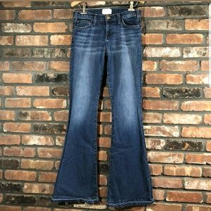 Current Elliott The Bell Blue Low Rise Flare Jeans